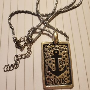 Refuse to sink silver necklace